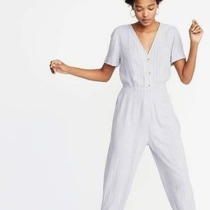 Old Navy Short Sleeve Button Up Romper Jumpsuit